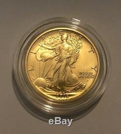 2016 Gold Walking Liberty Centennial Half Dollar Commemorative Coin Set COA