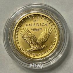 2016 Standing Liberty Quarter Centennial Gold Coin in US Mint box