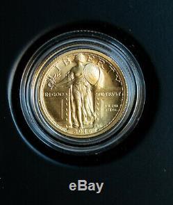2016 US Mint Gold 1/4 OZ Standing Liberty Quarter Centennial Coin With OGP & COA