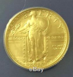 2016-W 2016 Centennial Gold Coin Standing Liberty Quarter ANACS Certified MS70