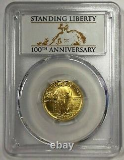 2016-W 25C PCGS SP70 100th Anniversary First Strike Standing Liberty