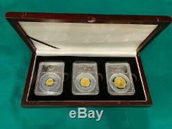 2016 W 3 Coin Gold Centennial Set PCGS SP70 FIRST STRIKE Flawless Set