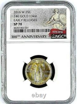 2016 W 3-Coin Set Gold Dime, Gold Quarter and Gold Half Dollar ER All SP 70