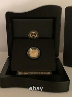 2016-W Centennial Mercury Dime 24k Gold Coin U. S. Mint (OGP)