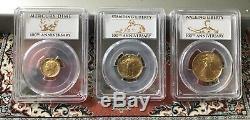 2016-W Gold Centennial Set (3 Coins) PCGS SP70 First Strike