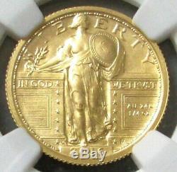 2016 W Gold Standing Liberty Quarter 25c Centennial 1/4 Oz Ngc Sp70