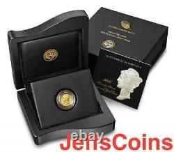 2016 W Mercury Dime Centennial Gold Coin 10¢ Uncirculated 16XB. 9999 24k 1916