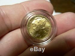 2016 W Mercury Dime Gold Centennial Commemorative Coin With Box/coa
