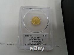 2016 W Mercury Dime Gold Centennial Commemorative Coin With Box/coa 16xb Pcgs 70