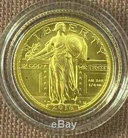 2016-W STANDING LIBERTY QUARTER 1/4 OZ GOLD CENTENNIAL COMMEMORATIVE COIN WithCOA