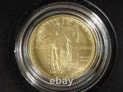 2016 W Standing Liberty 1/4oz Quarter Gold Centennial Commemorative Coin OGP