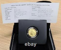 2016 W Standing Liberty Quarter 1/4 Oz. Gold Centennial Coin