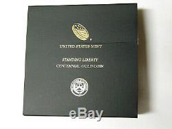 2016-W Standing Liberty Quarter Centennial Gold Coin 1/4 oz. 999 Fine Gold OGP