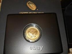 2016 W Standing Liberty Quarter Centennial Gold Coin. 9999 Fine 1/4 Troy Oz