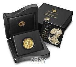 2016 W Walking Liberty Half Centennial Gold Coin 24K WithBox and COA