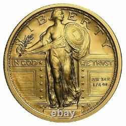 2016-w Centennial Gold Standing Liberty Quarter 1/4th Oz Gold