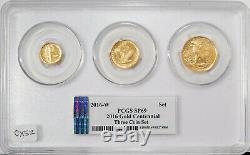 2016-w Pcgs Sp 69 Gold Centennial 3 Coin Set Dime, Quarter, Half In Gold