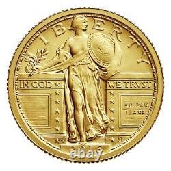 2016-w Standing Liberty Centennial 1/4 Troy Oz. Gold Coin