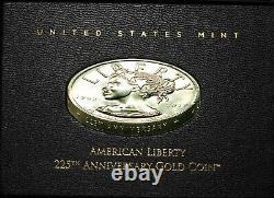2017 American Liberty 225th Anniversary Gold Coin W Box & COA Item#P13442