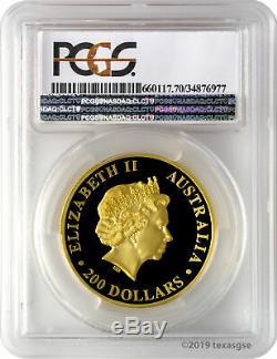 2017-P $200 Australia Kangaroo High Relief 2oz. 9999 Gold Coin PCGS PR70DCAM