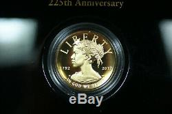 2017-W $100 American Liberty 225th Anniversary Proof Gold Coin in Box with COA