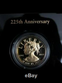 2017 W $100 Gold Liberty High Relief 225th Anniversary Complete OGP with book