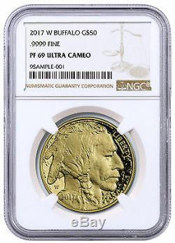 2017 W 1 oz Proof American Gold Buffalo $50 Coin NGC PF69 UC SKU46895