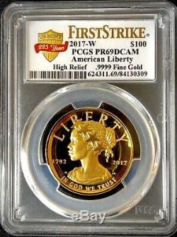 2017-W American Liberty 225th Anniversary $100 Gold Coin FS- PCGS PR69DCAM