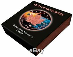 2018 1 Oz Silver ABEE METEORITE Atlas Of Meteorites Coin, 24K Rose Gold Gilded