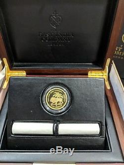 2018 East India Company St. Helena Gold Mohur Proof Coin COA #004