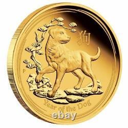 2018 P Australia PROOF GOLD $25 Lunar Year DOG NGC PF70 1/4 oz $25 Coin ER