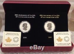 2018 Silver Maple Leaf 30th $20 1OZ Coin SML & 2019 40th Gold Maple Leaf GML $20