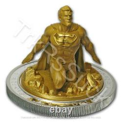 2018 Superman The Last Son of Krypton 10 oz Silver & Gold-plated Coin 235/1000
