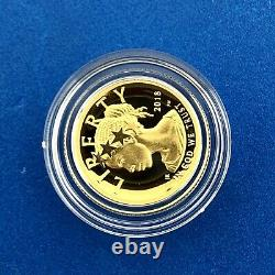 2018 W American Liberty 1/10 Oz Gold Proof Coin US Mint with Box & COA