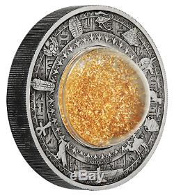 2019 Golden Egypt Treasures of Ancient 2oz Silver Antiqued $2 Coin NGC MS 69 FR