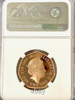 2019 UK Sherlock Holmes 2019 UK 50p 50 Pence Gold Proof Coin NGC PF70 UC WOW