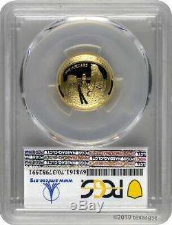 2019-W $5 Apollo 11 50th Anniversary Gold Proof Coin PCGS PR70DCAM FD-Moon Label