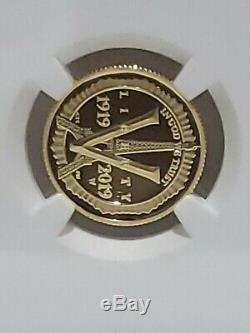 2019-W American Legion $5 Gold Coin From 3-coin Limited Edition Set NGC PF-70