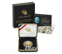 2019 W Apollo 11 50th Anniv. $5 Gold Uncirculated Coin with Box & COA (#30011)
