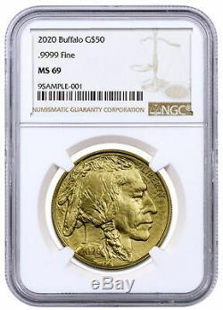 2020 1 oz Gold American Buffalo $50 Coin NGC MS69 SKU59623