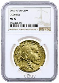 2020 1 oz Gold American Buffalo $50 Coin NGC MS70 Brown Label DELAY SKU59626