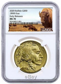2020 1 oz Gold American Buffalo $50 Coin NGC MS70 ER Buffalo SKU59628