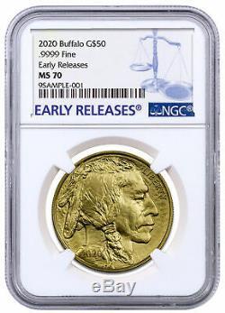 2020 1 oz Gold American Buffalo $50 Coin NGC MS70 ER SKU59627