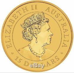 2020 30th Anniversary Australia 1/10 oz Gold Kookaburra Capsuled PRESALE BU Coin