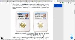 2020 400th Anniversary of the Mayflower Voyage Two-Coin Gold Proof Set NGC PF70