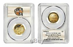 2020 $5 Gold Basketball HOF Coin PCGS PR70 Presale First Day of Issue