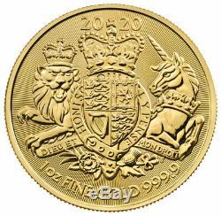 2020 Great Britain 1 oz Gold Royal Coat of Arms £100 Coin GEM BU SKU60668