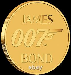 2020 James Bond 007 $2 0.5g. 9999 Gold COIN NGC MS70 PF70 Brown Label