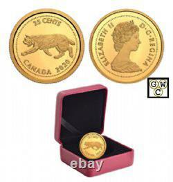 2020'Lynx-1967' Proof 25ct Fine Gold 1/10oz. Coin (RCM 178083)(18989)