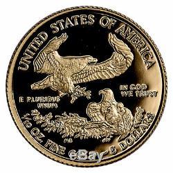 2020 W 1/10 oz Gold American Eagle Proof $5 Coin GEM Proof OGP SKU60819